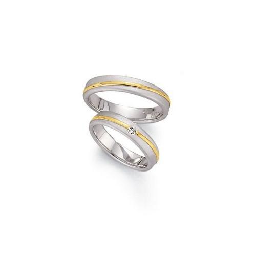 Alianzas de oro bicolor Fischer 052042-45_382042