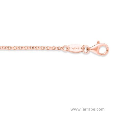 Cadena de Plata rodiada en oro rosa 80 cm ERN-80-R