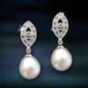 Pendientes de plata y perlas Amavento CAP018PR