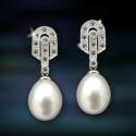 Pendientes plata y perlas Amavento CAP006PR