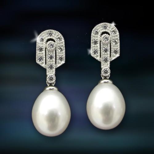Pendientes de plata y perlas Amavento CAP006PR