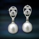 Imagen pendientes plata y perlas Amavento CAP013PR
