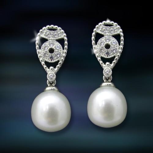 Pendientes de plata y perlas Amavento CAP013PR