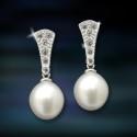 Imagen pendientes plata y perlas Amavento CAP008PR