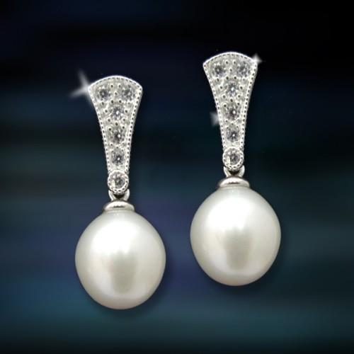 Pendientes de plata y perlas Amavento CAP008PR