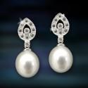 Pendientes de plata y perlas Amavento CAP007PR