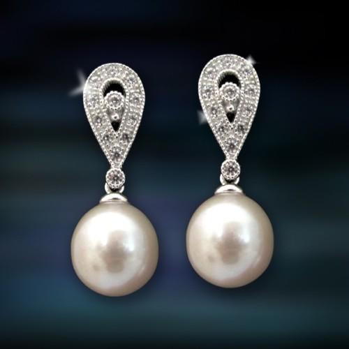 Pendientes de plata y perlas Amavento CAP016PR