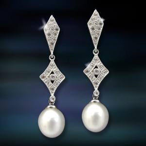 Pendientes de plata y perla Amavento CAP011PR