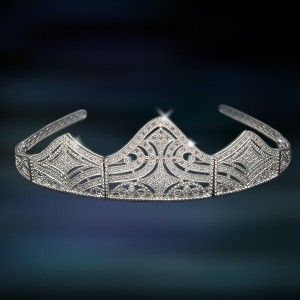 Tiara de plata Amavento CAT001PR