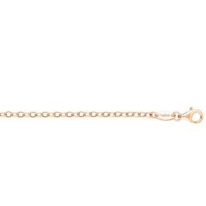 Cadena de Plata rodiada en oro 70 cm ERN-70-AG