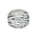 Sortija de oro blanco y diamantes. A1405