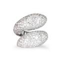 Sortija de oro blanco y diamantes. A1877