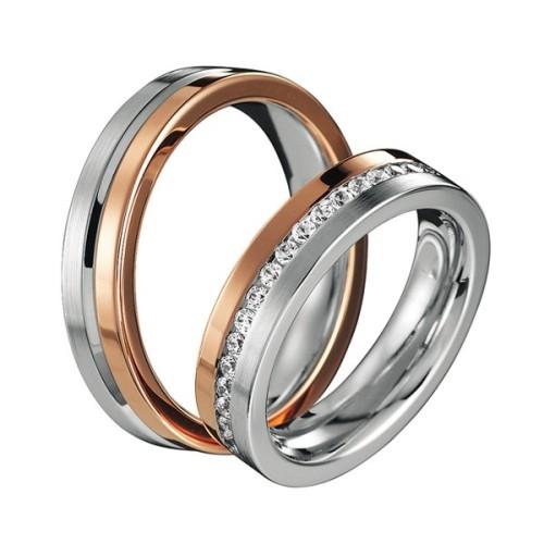 Alianzas de oro bicolor Saint Maurice - Infinity 80556_88256rosa