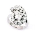 Sortija de oro blanco y diamantes. A1070