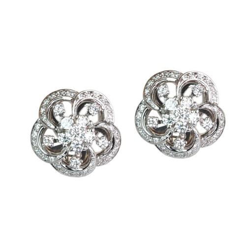 Pendientes de oro blanco y diamantes. LARRAP0706