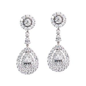 Pendientes de oro blanco y diamantes. LARRAP0774