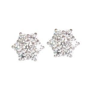 Pendientes de oro blanco y diamantes. LARRAP0892