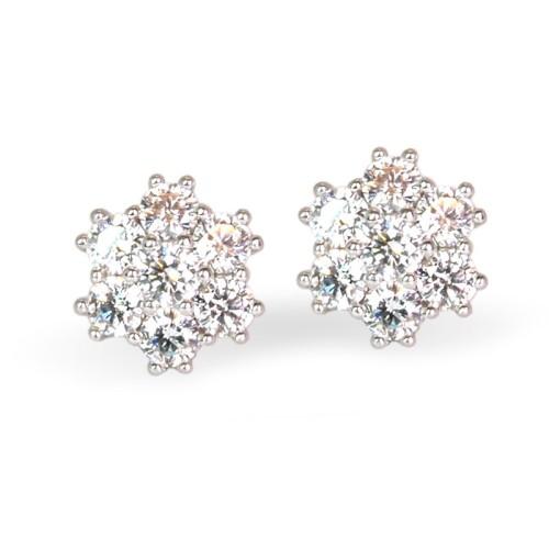 Pendientes de oro blanco y diamantes. LARRAP0901