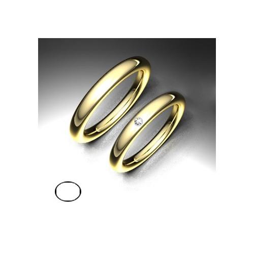 Alianza de oro amarillo LK - 750AMA30ELIPSE