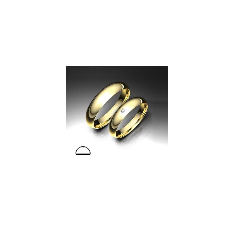 Alianza de oro amarilo LK - 750AMA40MCAÑA