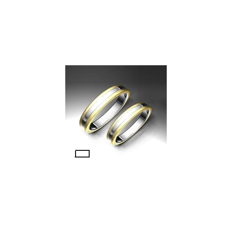 Alianza de oro bicolor LK - 750BIC35BPLANA