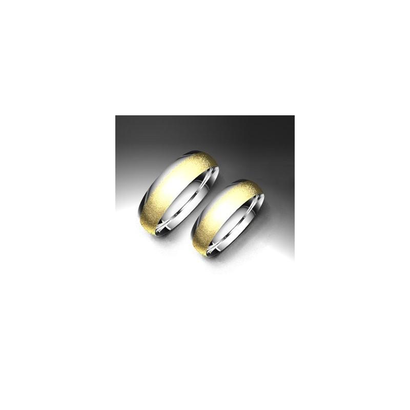 Alianza de oro bicolor LK - 750BIC50BEATRIZ