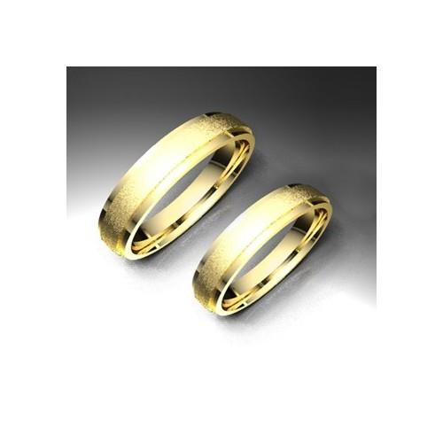 Alianza de oro amarillo LK - 750AMA40BISEL
