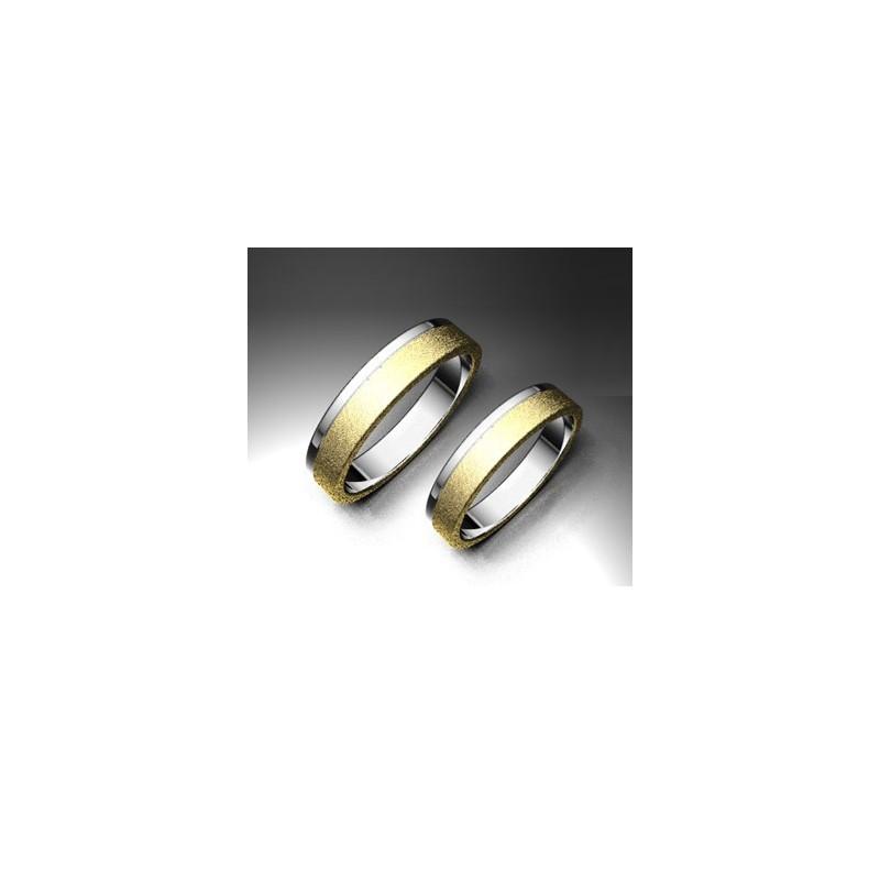 Alianza de oro bicolor LK - 750BIC40DIANA