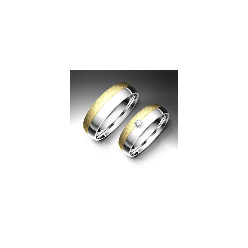 Alianza de oro bicolor LK - 750BIC502COL