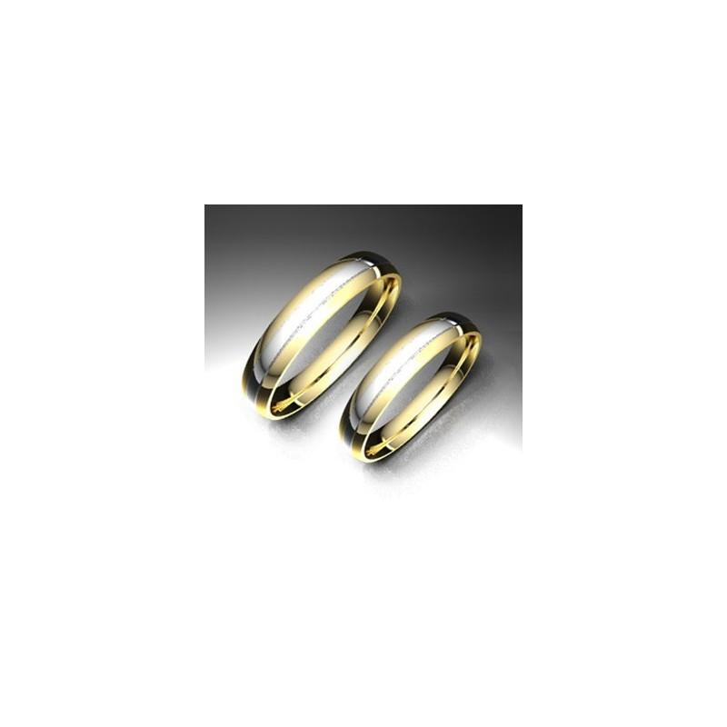 Alianza de oro bicolor LK - 750BIC35BBRILLO