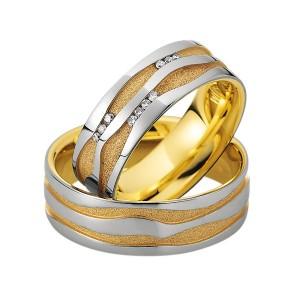 Alianzas de oro bicolor Saint Maurice Colección Precious Line 81600/01
