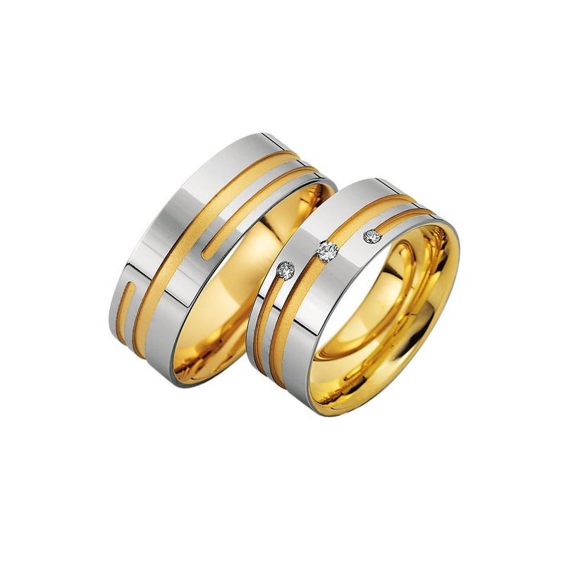 Alianzas de oro bicolor Saint Maurice Colección Precious Line 81604/05