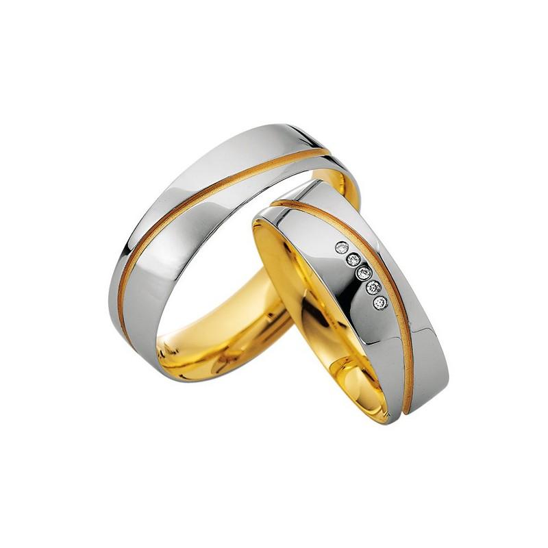 Alianzas oro bicolor Saint Maurice Colección Precious Line 81606/07