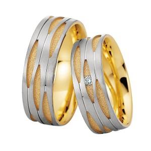 Alianzas de oro bicolor Saint Maurice Colección Precious Line 81608/09