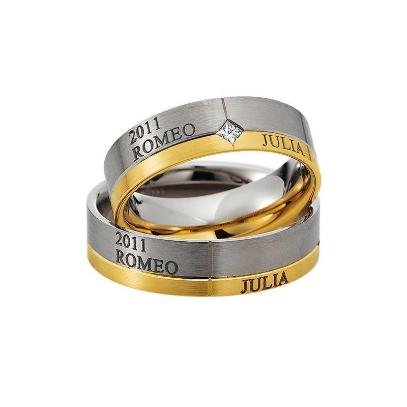 Alianzas de oro bicolor Saint Maurice Colección Precious Line 81610/11