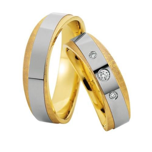Alianzas oro bicolor Saint Maurice Colección Precious Line 81616/15