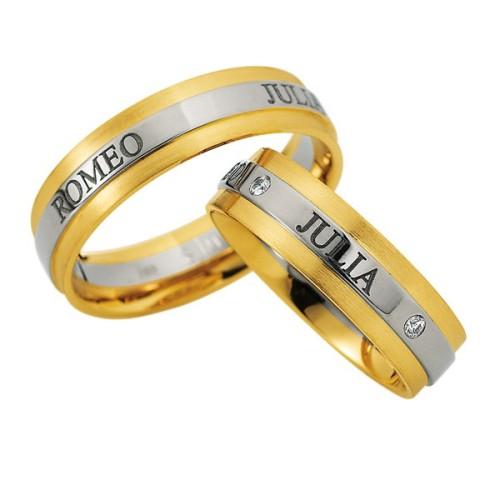 Alianzas de oro bicolor Saint Maurice Colección Precious Line 81618/19