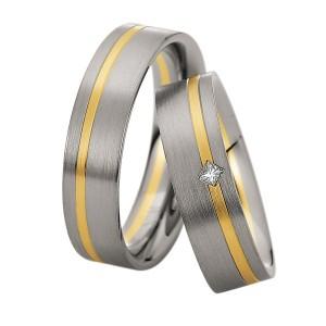 Alianzas de oro bicolor Saint Maurice Colección Precious Line 81620/21