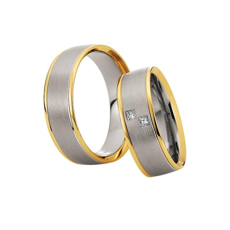 Alianzas de oro bicolor Saint Maurice Colección Precious Line 81622/23