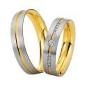 Alianzas de oro bicolor Saint Maurice Colección Precious Line 81624/25
