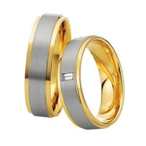 Alianzas de oro bicolor Saint Maurice Colección Precious Line 81626/27
