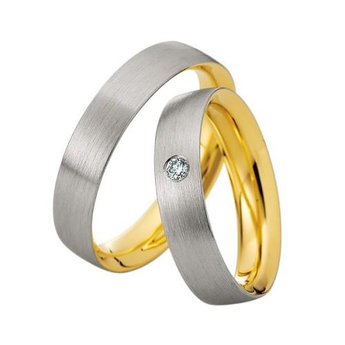 Alianzas oro bicolor Saint Maurice Colección Precious Line 81627/29