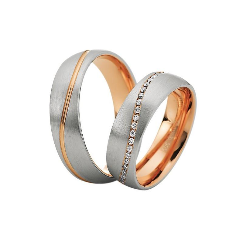 Alianzas de oro bicolor Saint Maurice Colección Precious Line 81632/33