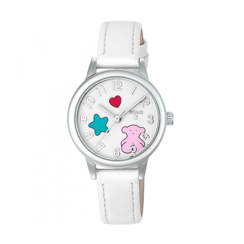 Reloj TOUS Muffin de acero y piel 28mm 800350625