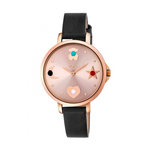 Reloj TOUS Super Power acero rosado y piel 33mm 800350735