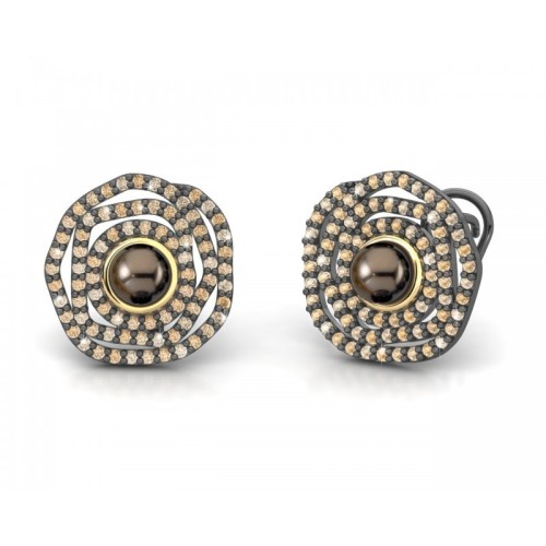 Pendientes plata y oro Bohemme Way of Life 7LIF007E