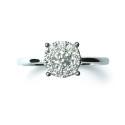 Anillo Compromiso Solitario de oro blanco con diamantes B01101796