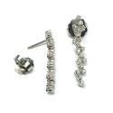 Pendientes de oro blanco y diamantes G01100515