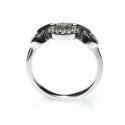Anillo de oro blanco con diamantes B01120356