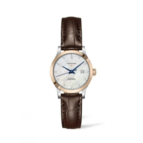 Reloj Longines Record Mujer diamantes 30mm L2.321.5.87.2